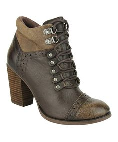 Not Rated Taupe Bearwood Bootie | zulily