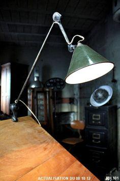 "Lampe ""Gras"" pince étau vers 1930, bras articulés"