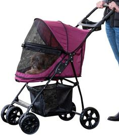 Buy Happy Trails Lite NO-ZIP Pet Stroller - Boysenberry. Pet Supplies - Happy Trails Lite NO-ZIP Pet Stroller - Boysenberry. Happy Trails Lite NO-ZIP Pet Stroller - BoysenberryDon't let the Lite fool you; the Happy Trails Lite No-Zip pet stroller by Pet G Big Dogs, Large Dogs, Small Dogs, Cat Stroller, Yorky, Pet Gear, Cat Carrier, Cat Dog, Cat Furry