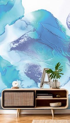 Choose our peel and stick wallpaper to transform any room! It's simple and clean to install and is easy to remove leaving no damage. Photo Wallpaper, Wallpaper Murals, Room Wallpaper, Nordic Living, Aesthetic Rooms, Blue Wallpapers, Peel And Stick Wallpaper, Wall Treatments, Designer Wallpaper