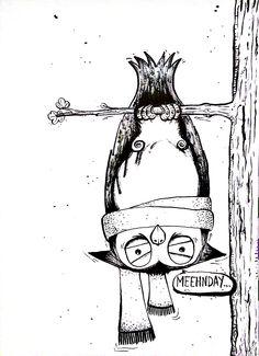 #inktober • Day 5 • Monday Owl