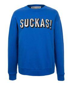 Suckas Boyfriend Sweatshirt by Etre Cecile