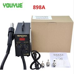 Hot Sale UYUE 898A 110V/220V Hot Air Gun + Solder Iron 2 in 1 Digital Desoldering Station Free Shipping #Affiliate