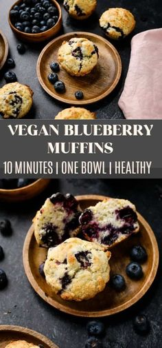 These vegan blueberry muffins are soft, fluffy, and super easy to make! With just one bowl needed, you can have these muffins in the oven in 10 minutes! You can make these dairy-free muffins with fresh or frozen blueberries #vegan Vegan Blueberry Recipes, Vegan Keto Recipes, Vegan Recipes Beginner, Vegan Breakfast Recipes, Dairy Free Recipes, Recipes Dinner, Brunch Recipes, Snack Recipes, Vegan Sweets