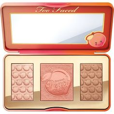 Natural Makeup Looks Made Easy Too Faced Sweet Peach Glow Highlighting Palette Peach Palette, Glow Palette, Makeup Palette, Too Faced Palette Peach, Paleta Too Faced, Maquiagem Too Faced, Sephora, Sweet Peach Glow, Peach Makeup