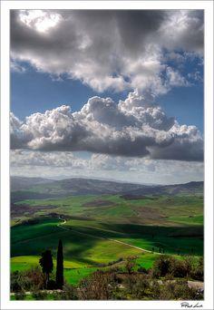 Val d'Orcia, Province of Siena, Tuscany region Italy vista da Pienza