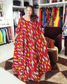 Nuru looking stunning in her African print maxi dress designed by @kikizimba…