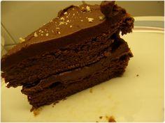 Mager og god sjokoladekake (Discipline Your Dedication) 320 kalorier for hele oppskriften med glasur!