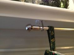 hanging stockings - 3M hooks and a cafe rod