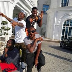 Check Out This Throwback Photo Of Danagog, Davido, DJ Olu & Tagbo