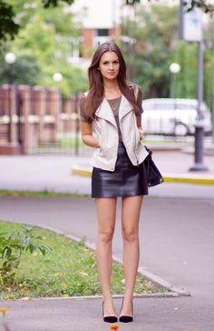 leather skirt, Fashion Agony blog