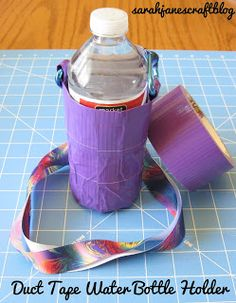 Girl Scout Camping Crafts Duct Tape Ideas For 2019 Duct Tape Projects, Duck Tape Crafts, Duct Tape Flowers, Girl Scout Camping, Water Bottle Holders, Water Bottles, Crafts For Girls, Kid Crafts, Creative Crafts