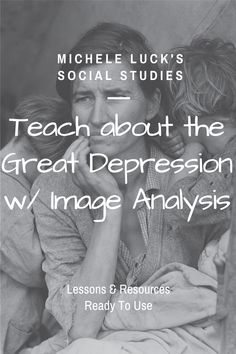 Teach the 1930s and the Great Depression in the United States with this  great collection of resources for your American History classroom.  Students will learn about the Stock Market Crash, Penny Auctions, the  Hardships of Families, Teens Riding the Rails and will be engaged with  visual analysis, will examine primary sources, can apply their knowledge  and learn more through research tasks, and will determine causes and  effects through hands-on collaborative or tech-based resources.