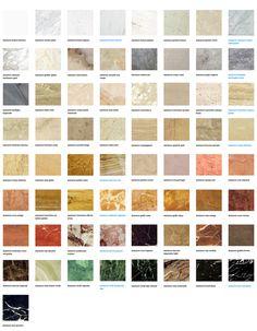 tipos de marmore