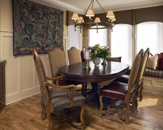 Updated English Dining Room  Designed by Christine Sutphen, ASID, NCIDQ