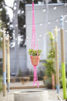 Make your own plant hanger--step by step instructions on the UO Blog!