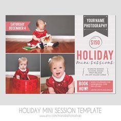 Holiday Mini Photography Sessions Template   by MariaBPhotoShop