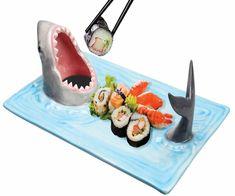 Hungry Shark Attack Sushi Serving Platter 🍣 | COOLSHiTiBUY.COM