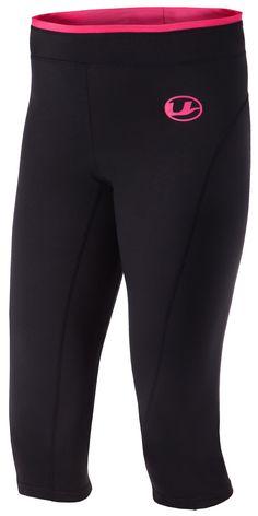 2b9589ed65 Ultrasport Women s Antibacterial Capri Pants with Quick-Dry Function -  Black Pink