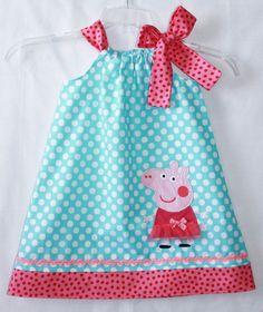 Super+Cute+Peppa+Pig++applique+dress+by+LilBitofWhimsyCoutur,+$26,00