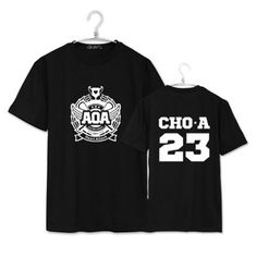 k-pop KPOP AOA JI MIN Heart Attack Shirt K-POP 2016 New Fashion Solid Cotton Camisas Short Sleeve T-shirts JCF268
