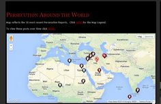 latest world map of Christian persecution