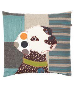 Bonnie The Dalmatian Patchwork Cushion   Carola Van Dyke   Liberty London