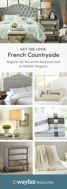 """Register with Wayfair Registry to build your happily ever after. From bedroom furniture to kitchen must-haves and more, our selection makes it easy to find gifts you'll love. It's fun and free to get started; just visit our website to discover unique gift ideas and expert tips, then use our checklist to keep track of items. Plus, enjoy free shipping, extended returns, and practical guidance from your own Registry Specialist. Simply put, it's the best decision you'll make besides saying """"I… Bedroom Sets, Master Bedroom, Bedrooms, My New Room, My Room, Wayfair Registry, Bedroom Furniture, Bedroom Decor, Sweet Home"""
