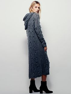 Mes Demoiselles Paris Cable Maxi Hoodie at Free People Clothing Boutique