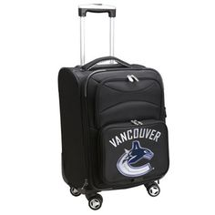 "Vancouver Canucks Black 20"" Spinner Rolling Bag"