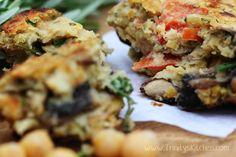 Yummy Recipe! Chickpea & Mushroom Burger (Vegan & Gluten-Free) 3