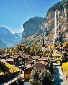 Lauterbrunnen, Switzerland. 📷: Senna Relax   IG: @sennarelax