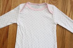 Burt's Bees Baby Girl Footed Coverall ~ White with Small Pink Bee Print ~Organic #BurtsBees #Babygirl #Pink
