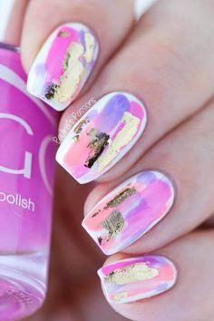 50 Ideas para pintar uñas de color rosa | Decoración de Uñas - Nail Art - Uñas decoradas