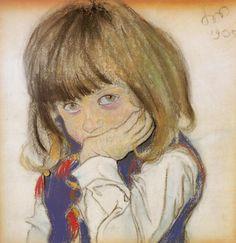 Portrait of a Boy (Józio Feldman), 1905 by Stanisław Wyspiański on Curiator, the world's biggest collaborative art collection. Portrait Au Crayon, Portrait Art, Portraits, Figurative Kunst, Classic Artwork, Art Images, Painting & Drawing, Collages, Art For Kids