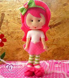 artesanato em feltro, craft felt, feltro, feltro moranguinho, handmade felt, molde, moranguinho, passo a passo, strawberry felt, tutorial