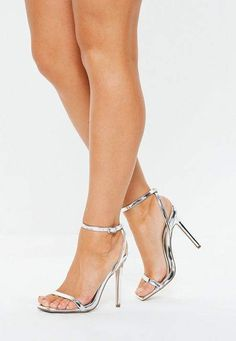 f5e067f5b43 Missguided Silver Barely There Heels. Silver Heels PromProm HeelsSilver Shoes  Low HeelMetallic High ...