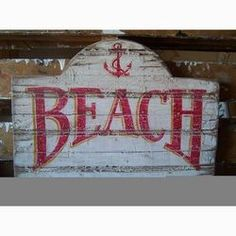 Arched Beach Sign - idea for poop deck sign Vintage Beach Signs, Beach Signs Wooden, Pallet Crafts, Pallet Art, Pallet Projects, Craft Projects, Graphic Design Letters, Pool Signs, Sea Crafts