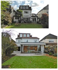 before and after rear and side double storey extensions in Barnes VC Design 2015