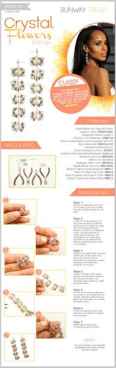 Fashion Topic  Runway Trend Crystal Flowers Earrings  Descubre más en www.elgaleon.com.mx