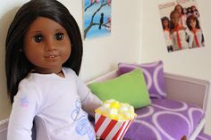 american girl and other 18 inch doll crafts: popcorn and daybed