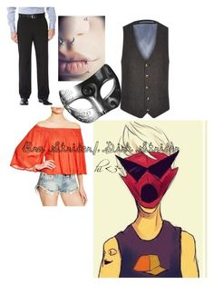 """""""Bro"""" by mikailaclonts on Polyvore featuring River Island, Jens Pirate Booty, Haggar and Masquerade"""