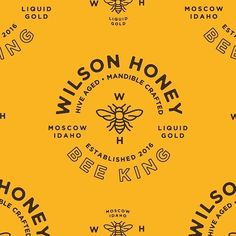 Logo inspiration:   More Wilson Honey by James Engerbretson @jamesengerbretson   Hire quality logo and branding designers at Twine. Twine can help you get a logo, logo design, logo designer, graphic design, graphic designer, emblem, startup logo, business logo, company logo, branding, branding designer, branding identity, design inspiration, brandinginspiration and more.