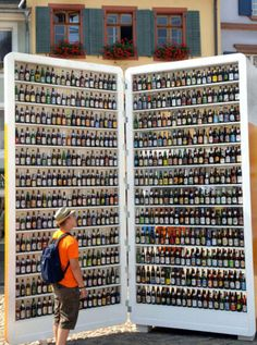 feeling thirsty? World's Largest Beer Fridge, I'll have the ummmmm.......no wait ,  ummmmm...