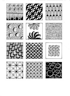 Zentangles patterns.