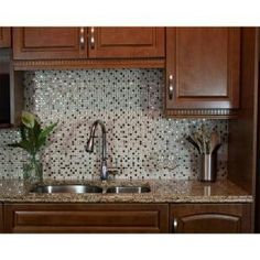 Decorative Wall Tiles Kitchen 6Pack Adhesive Tile Kitchen Wall Backsplash Peel And Stick