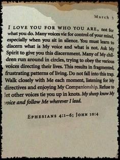 Jesus Calling March 3