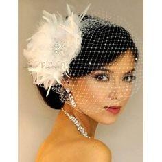 Great Gatsby style Bridal Veils