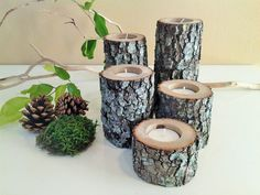 TREASURY ITEM 5 Wood tree branch candles by ArtisticByNature1