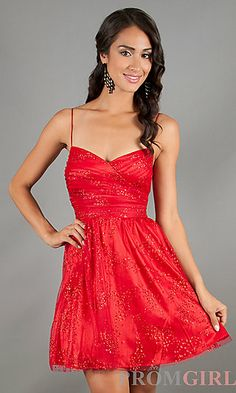Short Spaghetti Strap Red Dress by Hailey Logan | Shorts, Shops ...